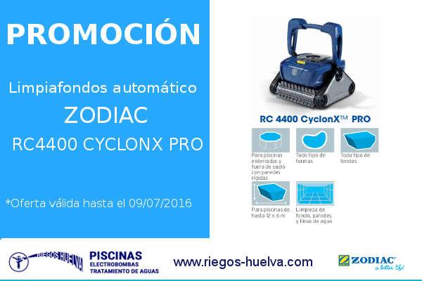 Oferta limpiafondos autom tico zodiac rc4400 cyclonx pro - Oferta limpiafondos piscina ...