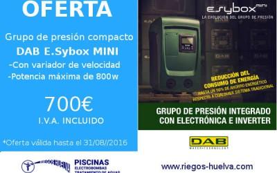 Oferta grupo de presión compacto DAB e.sybox mini